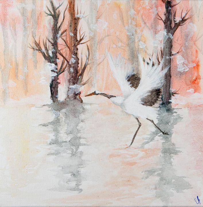 Winter Crane - Emma's Art
