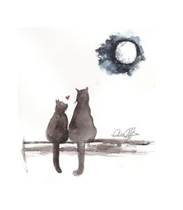Cats under the Moon
