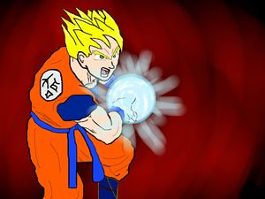 Super Saiyan Goku Kameha