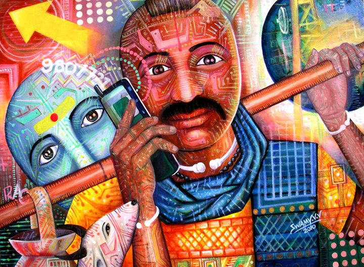 IN CONVERSATION - vv swamy paintings