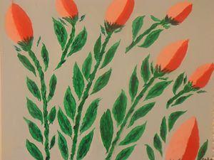 Cheerful, tulip in dutch - RMar Art