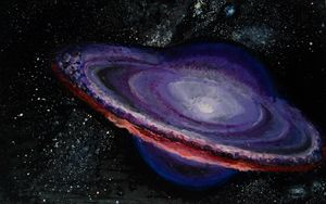 the sculpture galaxy painted
