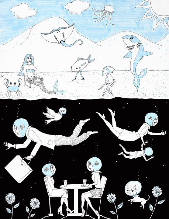 The Upside Down - Sherise Seven Art