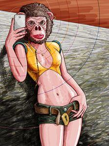 Selfie Monkey Woman
