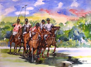 POLO HORSE RIDERS - INI BROWN