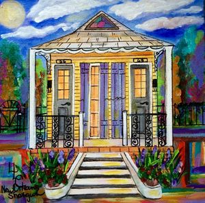 #66#68 Purple and Gold Shotgun House