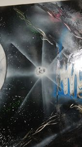 skull orb under moon lit sky
