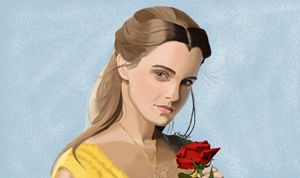 Belle with the Rose