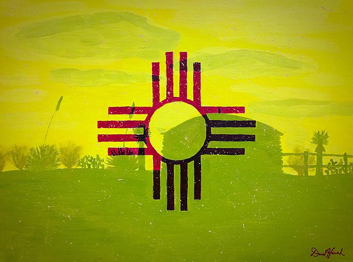 Flag of NM - Artwork by David Hannah