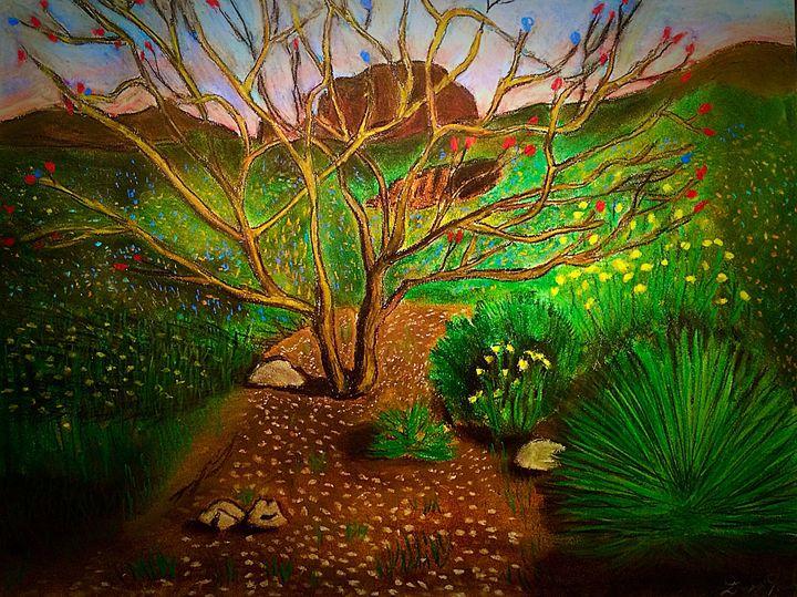 The Holiday Tree - Artwork by David Hannah