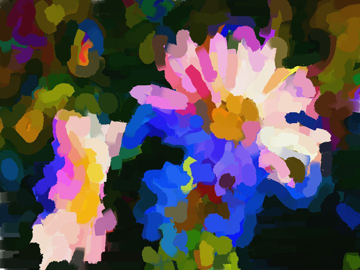 Gathering Flowers - Paintings and prints