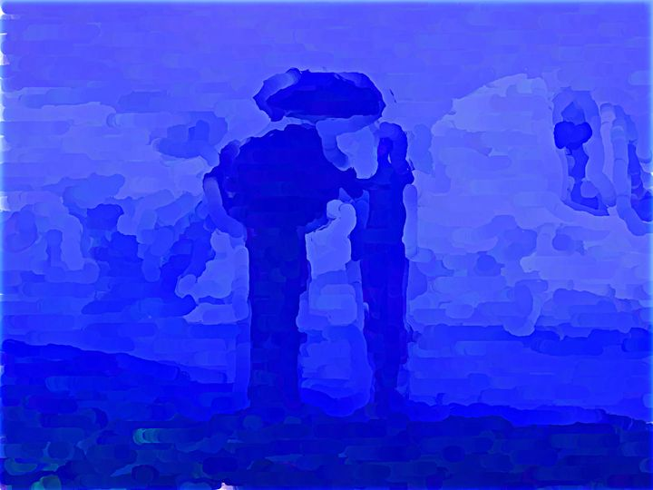Umbrella Duo - Paintings and prints