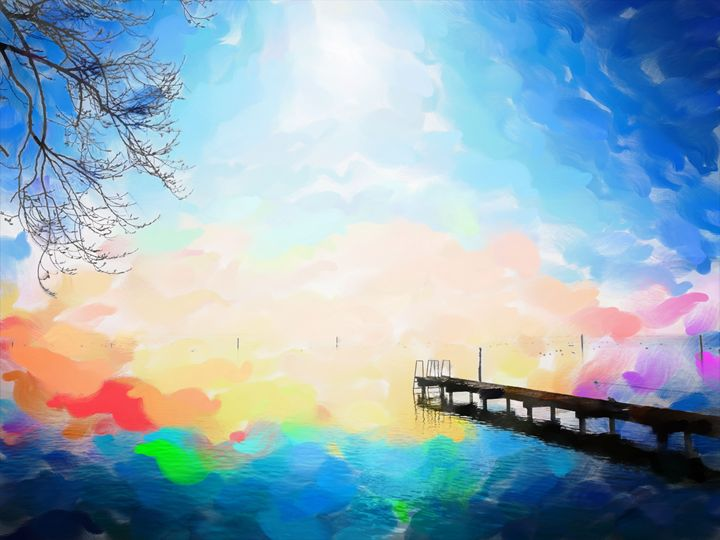 Cross The Bridge and Fade Away - Paintings and prints