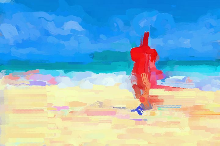 Drink on the beach - Paintings and prints