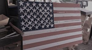 Photo of American flag on a pallet