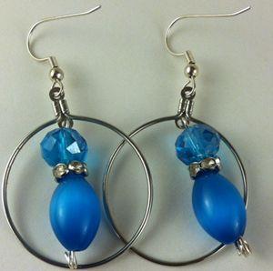 Gorgeous Blue Earrings