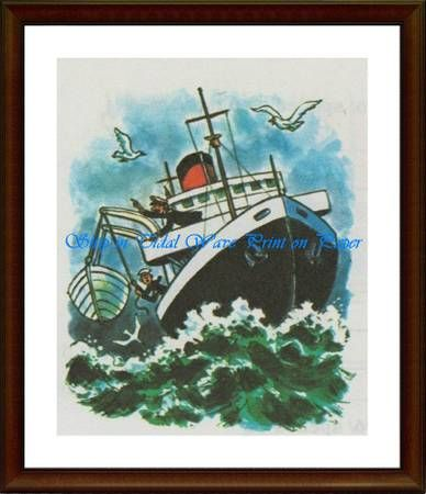 Ship in Tidal Wave - Matrix Collection