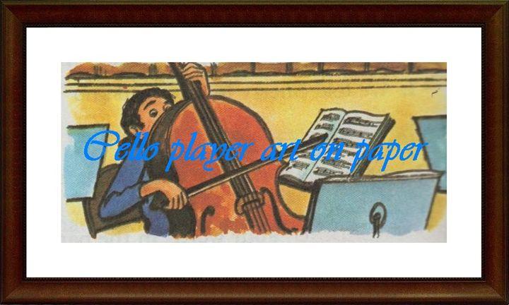 Cello Player - Matrix Collection