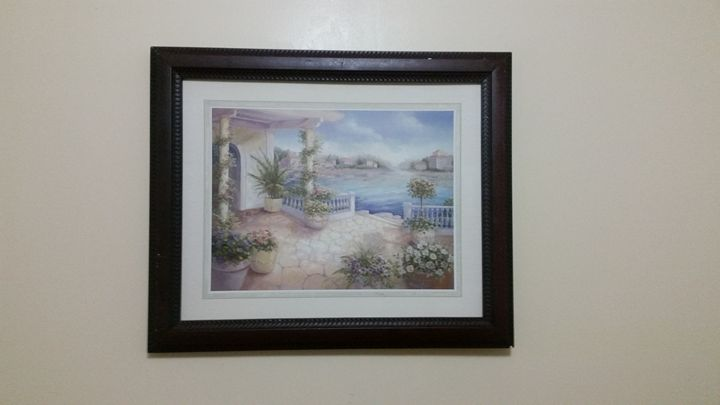 Large framed painting - Matrix Collection