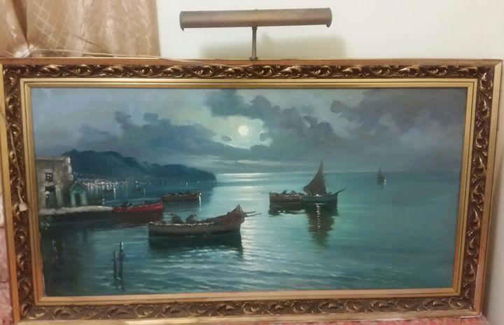 Extra large antique painting - Matrix Collection