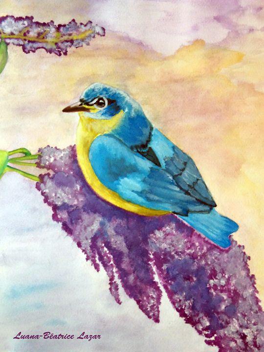 Little Blue Bird - ArtExpoo