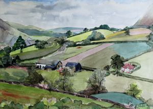 Builth Wells Landscape By W F