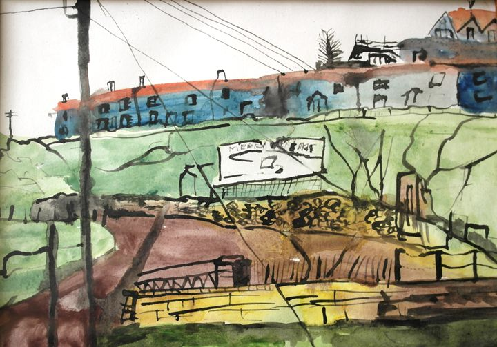 A HALT IN SMALL LITHUANIAN TOWN - Vaidoto art