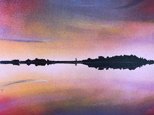 sunset on lake Narraguinnep