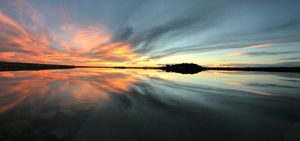 sunset on Narraguinnep, original