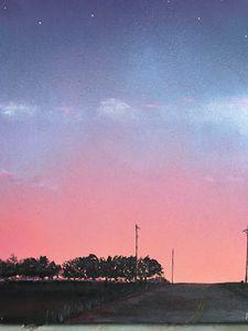 Sunset on Goodman Point Cemetery