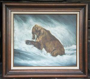 FISHING BEAR by Annette Hartzell