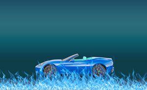 Car Fire Blue - Sabine