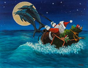 Riding The Waves With Santa