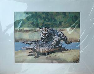 Jaguar and Caimen