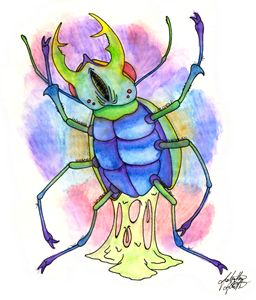 Original Beetle Flash Art