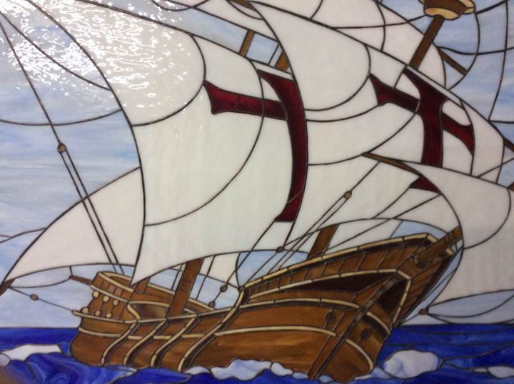 Santa Maria Columbus Ship. - Blashchuk Art Studio