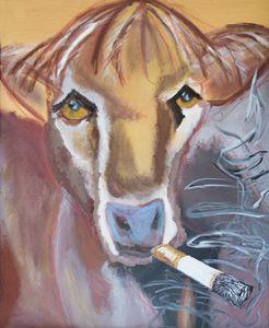 Smoking Cow