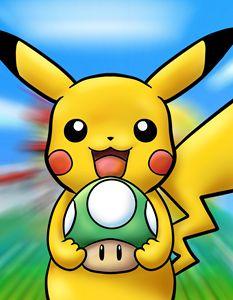 Happy Pikachu's One Up