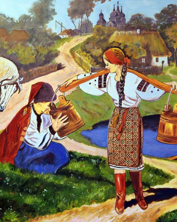 A Meeting. Oil, canvas. - Paintings by Tamara Hanenko