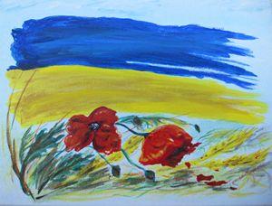 My Ukraine. Acrylic, canvas. 9x12