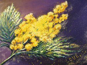 Mimosa. Oil, canvas. 9x12
