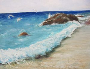 The Blue Wave. Oil, canvas.