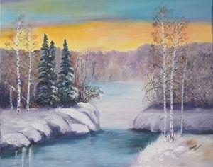 A Blue Winter. Oil, canvas.