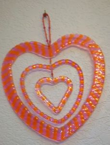 pink and orange heart