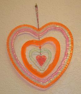 Orange & Pink Heart
