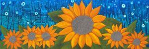 Moonlit Sunflowers