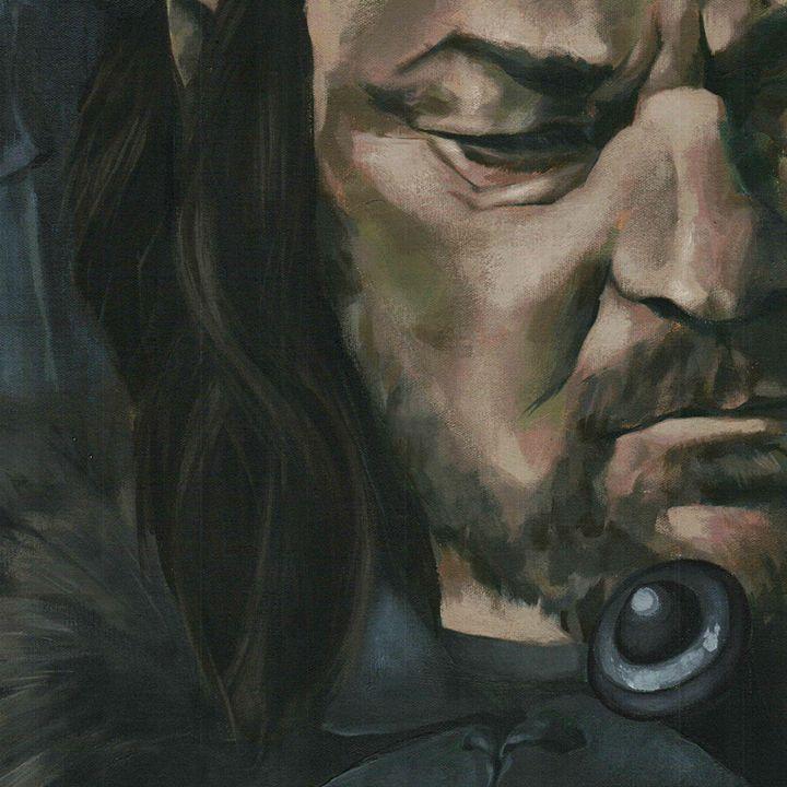 Eddard Stark, big portrait - detail - Canvasteros, paintings for geeks