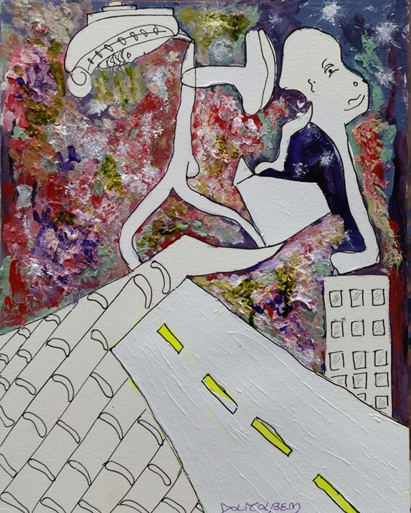 Figurative to abstract - Darabem artist