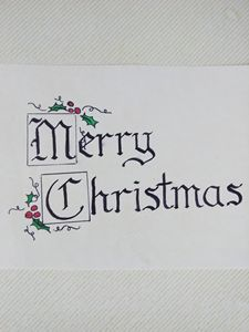 Merry Christmas Calligraphy - A. L. Miller