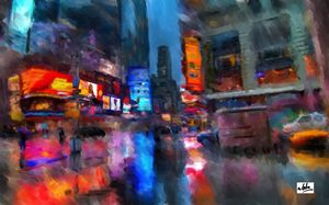 Cityscape - Peculiar art by Nate